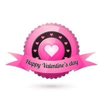 Vector illustration of greeting card for Valentine's day on white background - vector gratuit(e) #125854