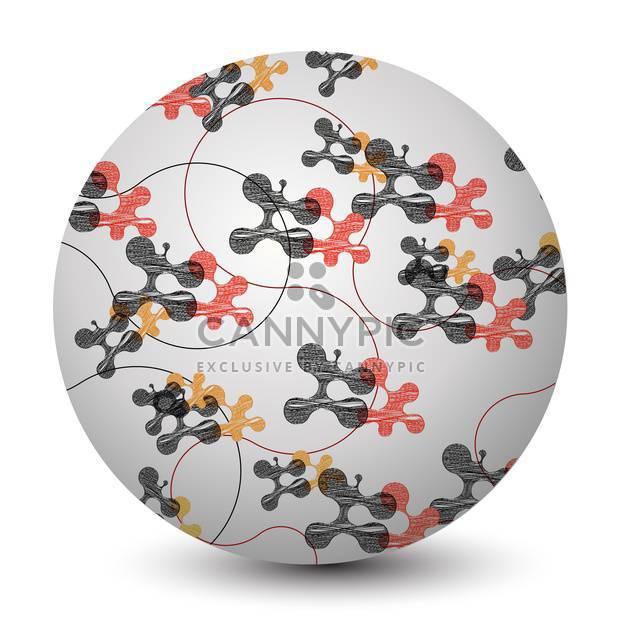 Vektor-Illustration abstrakt Runde Kugel mit Molekülen auf weißem Hintergrund - Kostenloses vector #125864