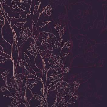 Vector illustration of floral vintage dark background - vector gratuit #126014