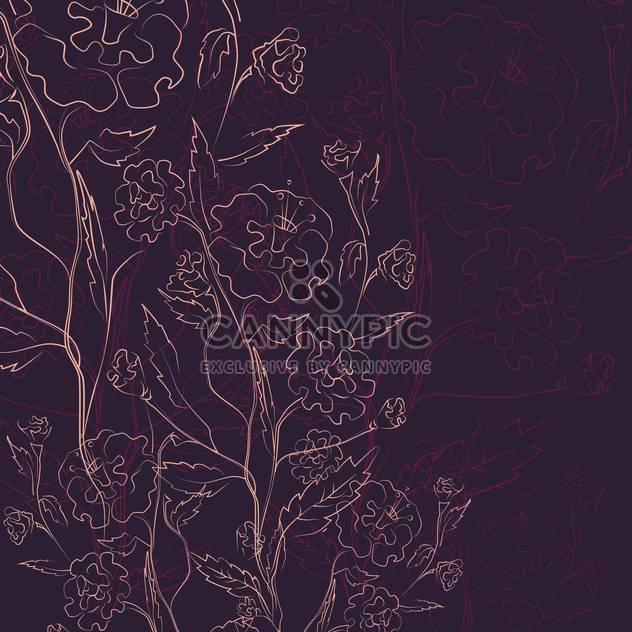 Vector illustration of floral vintage dark background - Free vector #126014