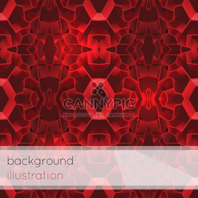 Vector illustration of red geometric abstract background for design - Free vector #126024
