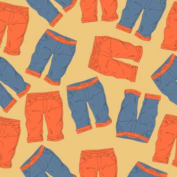 Vector background with different fashionable shorts - vector #126034 gratis