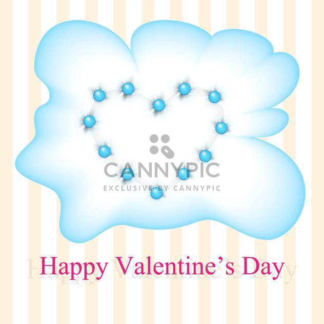 Vektor-Grußkarte zum Valentinstag mit blauen Herzen in Wolke - Kostenloses vector #126224