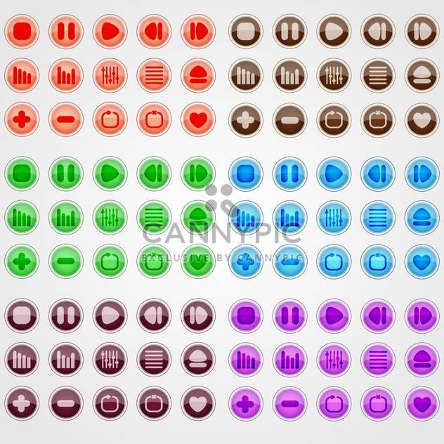 Vektor setzen bunte Web Buttons auf weißem Hintergrund - Kostenloses vector #126294