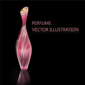 Vector black background with female perfume pink bottle - Free vector #126324