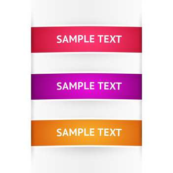 Vector colored banners on white background with text place - vector #126374 gratis