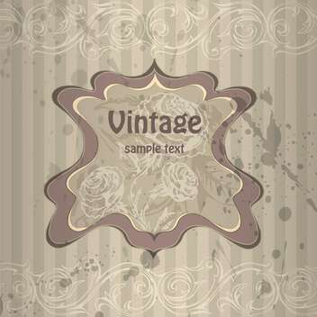 Vector vintage grey background with floral pattern - бесплатный vector #126394