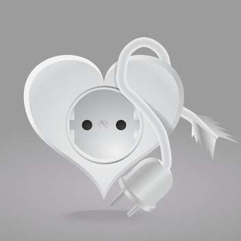 Vector illustration of heart shaped socket on grey background - бесплатный vector #126424