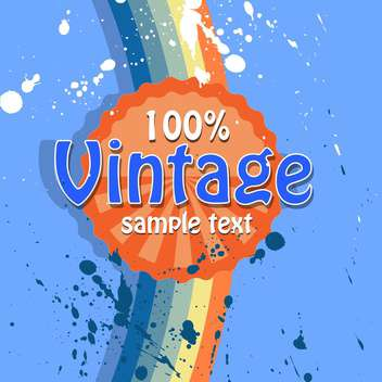Vector retro background with text place and paint signs - vector gratuit #126474