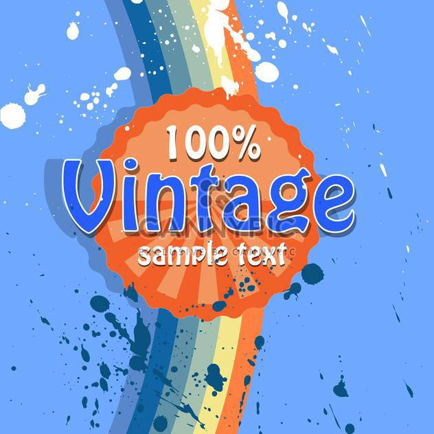 Vector retro background with text place and paint signs - Free vector #126474