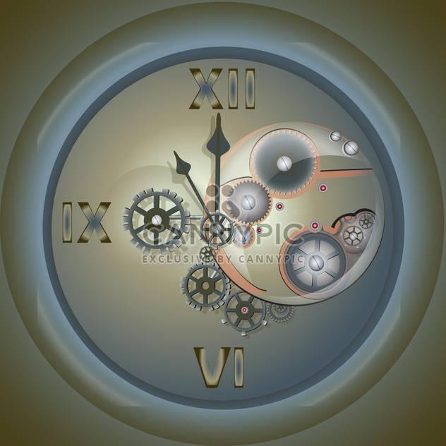 Vektor-Illustration alten Uhr mit Mechanismus auf grauen Hintergrund - Free vector #126494