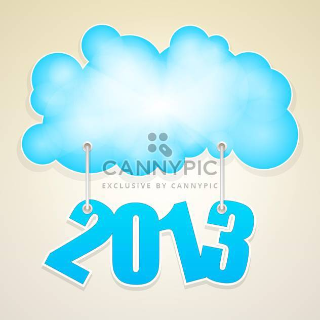 Vector blue cloud with numbers of new year 2013 - Free vector #126514