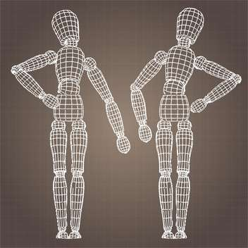 Vector model of human body on brown background - Kostenloses vector #126554