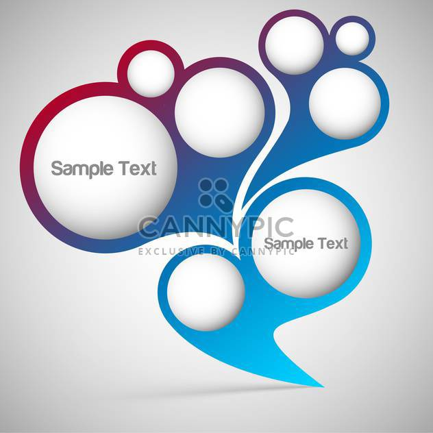 Vektor-abstrakt Blase-Hintergrund mit Text Platz - Kostenloses vector #126614