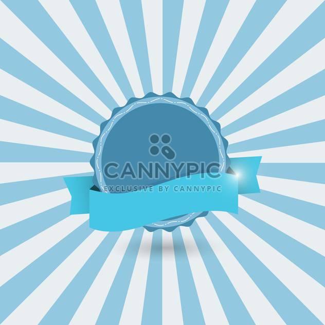 blauer Farbe Vektor Hintergrund mit Rundes Etikett und Streifen und Text-Platz - Free vector #126744