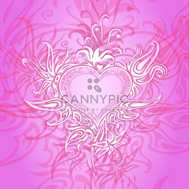 Vektor rosa Hintergrund mit abstrakte Herzen - Free vector #126794