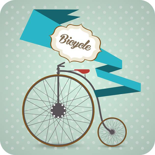 Vector Background With Old Vintage Bicycle Free Vector ...
