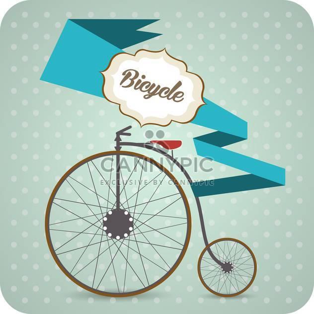 Vektor-Hintergrund mit alten Jahrgang Fahrrad - Kostenloses vector #126814