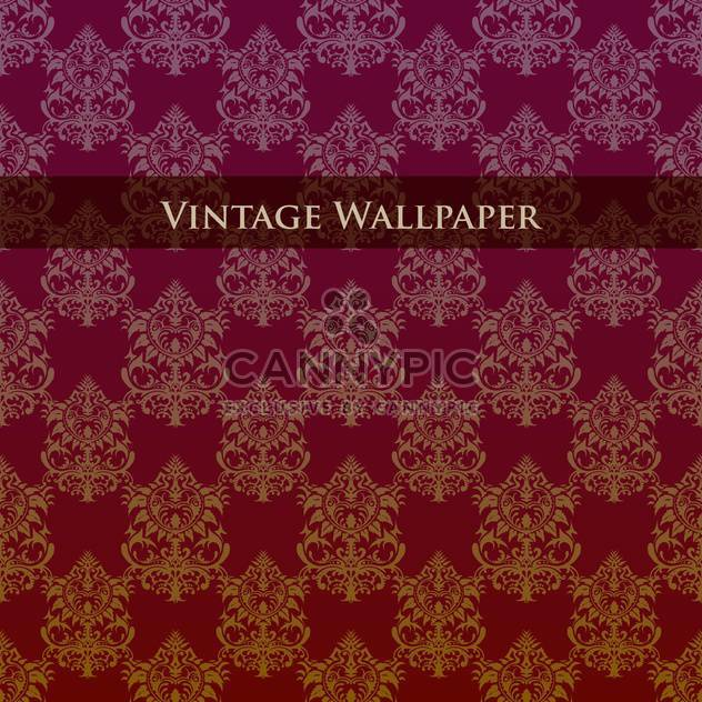 Vector colorful vintage wallpaper with floral pattern - Free vector #126824