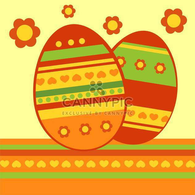 Vector background with colorful easter eggs - Free vector #126944