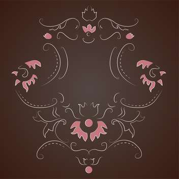 Vector vintage dark background with floral pattern and text place - vector gratuit #126954