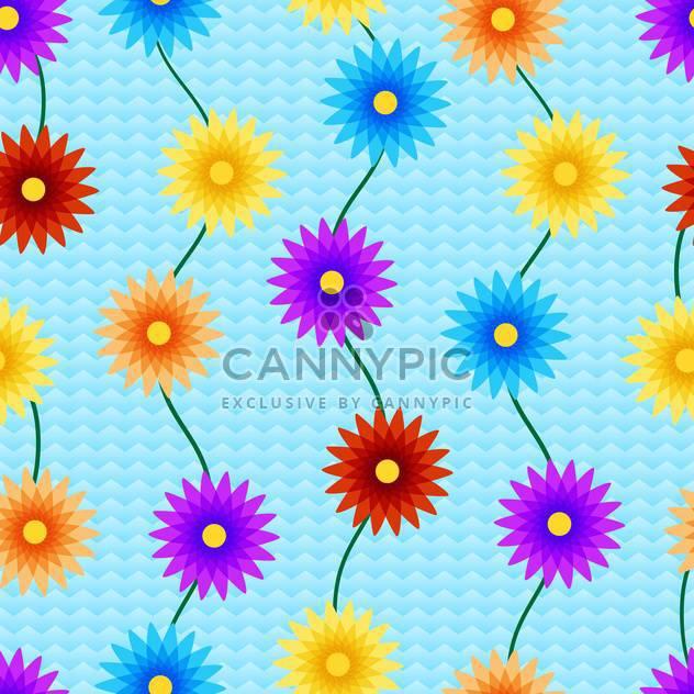 Vektor-Hintergrund mit bunten Blumen mit Text-Platz - Kostenloses vector #126984