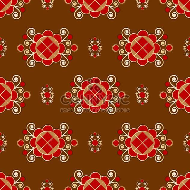 Vektor floral braun Hintergrund mit Blumenmuster - Free vector #127004