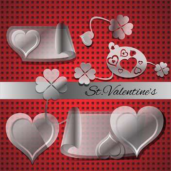 Vector set of elements for Valentine's day - vector gratuit(e) #127034