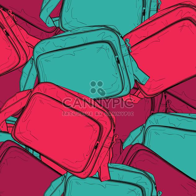Vector background of female colorful bags - Free vector #127044