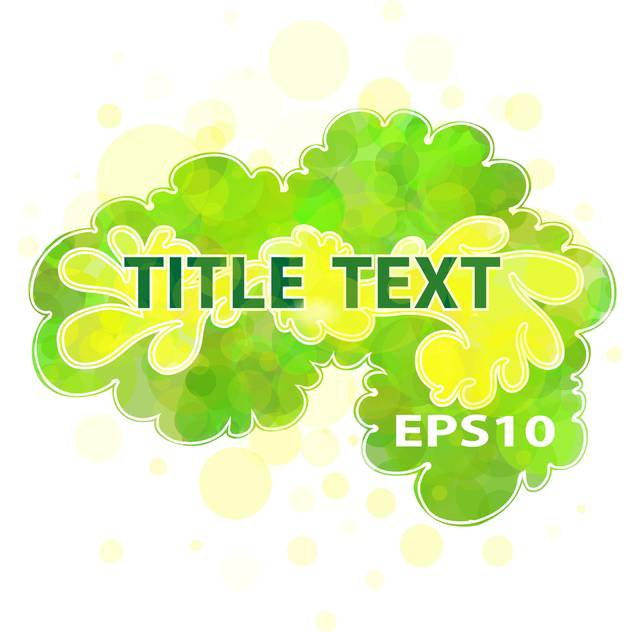 Vector green floral background with text place - vector gratuit(e) #127124