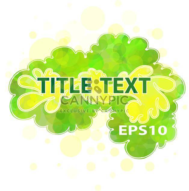Vector green floral background with text place - Free vector #127124