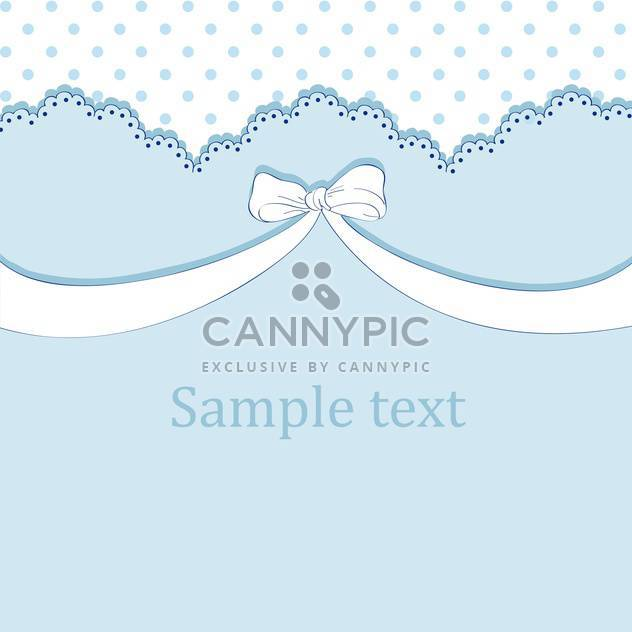 Vector blue background with bow and text place - Free vector #127134