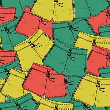 Vector background with different colorful shorts - Free vector #127184