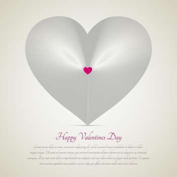 white heart with text place for valentine card - vector gratuit #127234