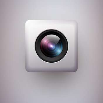 Vector illustration of web camera icon on white background - vector gratuit #127354