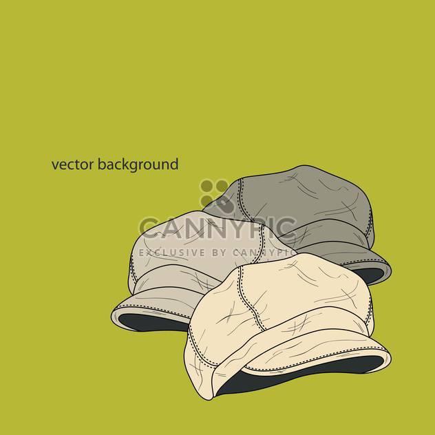 Vektor-Hintergrund mit Mode männlich Hüte - Kostenloses vector #127364