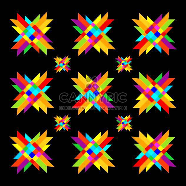 Colorful background with design geometric elements - Free vector #127394