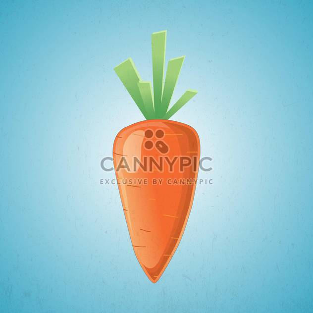 Orange Karotte Vector Illustration auf blauem Hintergrund - Free vector #127404