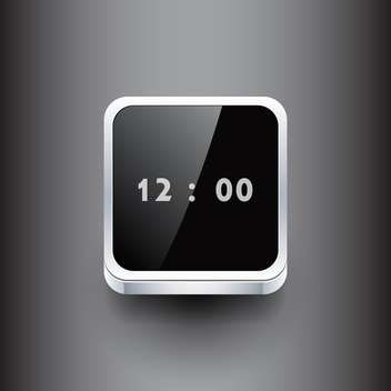 Vector illustration of square clock on dark background - vector gratuit #127424