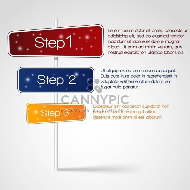 Web-Design mit drei Schritten und text - Kostenloses vector #127454