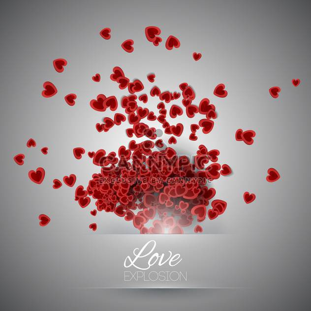 Valentine's day background with hearts - Free vector #127464