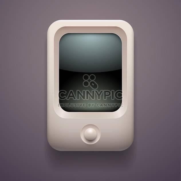 Vektor-Illustration von MediaPlayer auf grauem Hintergrund - Free vector #127474