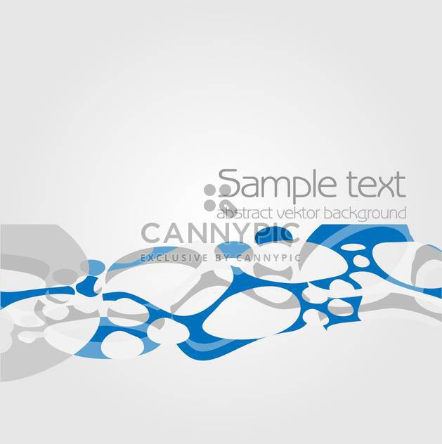 Vector blue color abstract background with text place - Free vector #127524