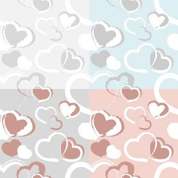 holiday background with love hearts - vector gratuit #127564