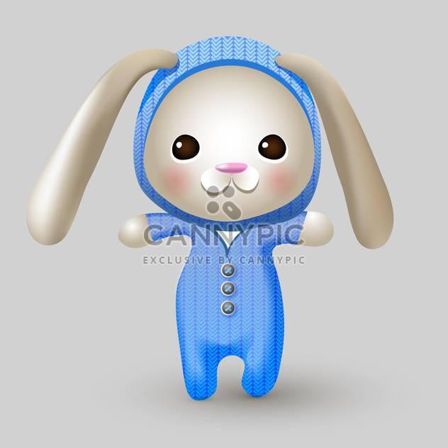 Niedliche Hase Puppe auf grauen Hintergrund - Free vector #127594