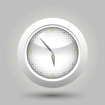 vector illustration of wall clock on grey background - vector gratuit #127614