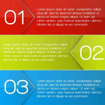 colorful three options banners - vector gratuit(e) #127634