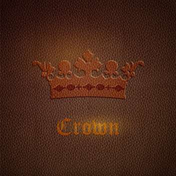 Vector leather brown background with crown - vector gratuit #127664