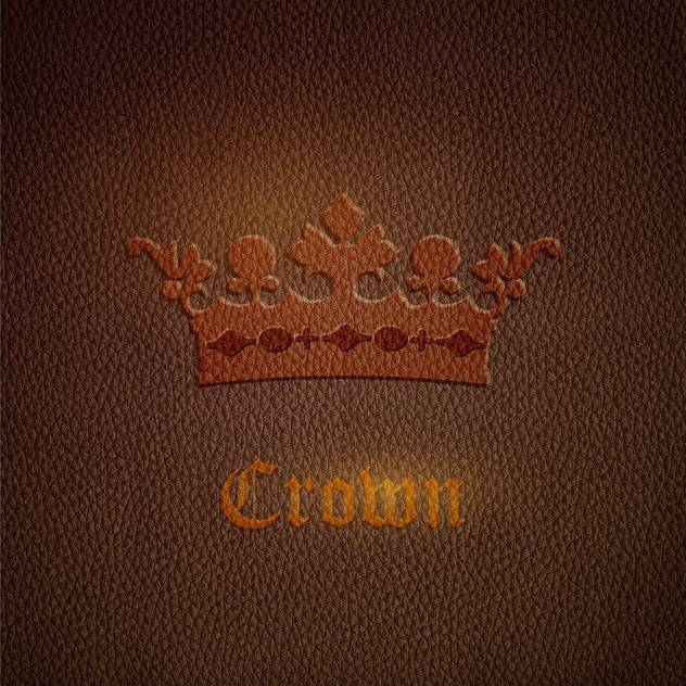 Vector leather brown background with crown - vector #127664 gratis