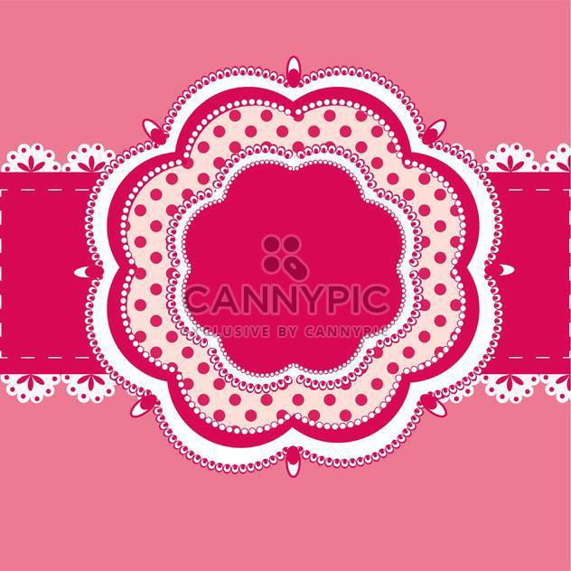 Vector vintage pink frame with text place - Free vector #127714